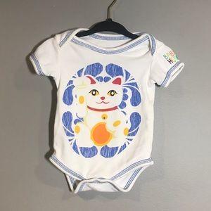 0-3M - Happy Cat Onesie (Baby Hero)